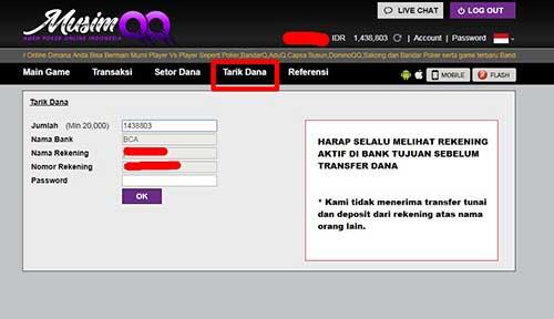 Form Withdraw Tarik Dana Musimqq
