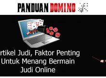 artikel judi faktor penting untuk menang bermain judi online
